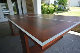 Philippine Mahogany Ping Pong Table Simmons Custom Cabinetry - Designer ping pong table