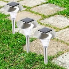 Outdoor Solar Landscape Lights by Amazon Com Solarek Solar Led Patio Stake Lights Set Of 8