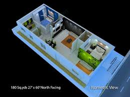 Home Design For 700 Sq Ft Superb Narrow Apartment Floor Plans 5 180 Sq Yds 27x60 Sq Ft
