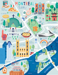 Centre Bell Floor Plan by Illustrated Map Of Montreal For Aaa Journeys Magazine By Nate