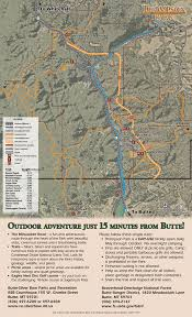 Map Of Montana Highways by Thompson Park City And County Of Butte Silver Bow Mt