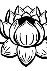 fleur de lotus facile en ligne gratuit à imprimer