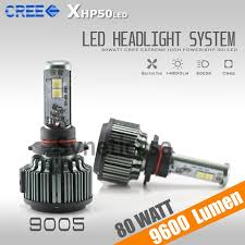 Led Light Bulbs For Headlights by Cree Xhp50 6000k High Power Led Headlight Bulb 9600 Lumen 80w