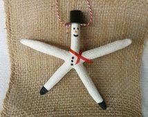 starfish ornament santa ornament starfish ornament