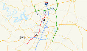 Map Of Downtown Austin by Texas State Highway Loop 1 Wikipedia