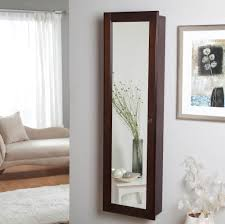 furniture contemporary white wall mount armoire jewelry