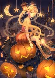 happy halloween anime art halloween costume pumpkins