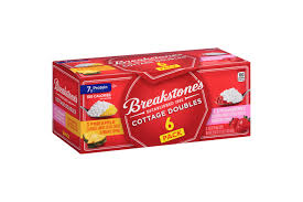 Calories In Lowfat Cottage Cheese by Breakstone U0027s Cottage Doubles Peach Cottage Cheese 3 9 Oz Tray