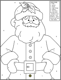 christmas color by number worksheets free worksheets library