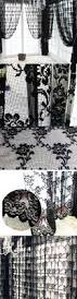 Antique French Lace Curtains by Nava Black Rich Vintage French Lace Window Curtain Drape