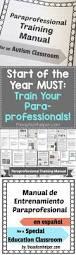 start of the year must train your paraprofessionals