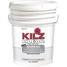 kilz klear 5 gal water based multi surface interior exterior