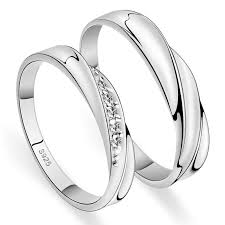 couples rings set images His hers matching couple cz sterling silver rings set yoyoon jpg