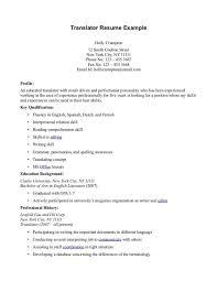 sample translator resume template translator resume tips