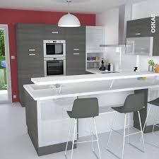 exemple de cuisine en u bar pour cuisine ouverte idees de decor mur cuisine moderne photos