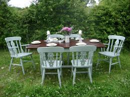 painted dining table and chairs the barrister u0027s horse