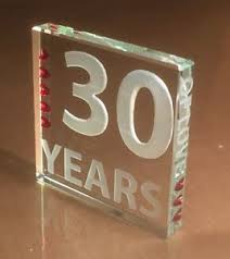30 year anniversary gifts spaceform 30th pearl wedding anniversary gifts 30 years of gift