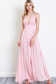 blush maxi dress daydream blush crochet top halter maxi dress shopluckyduck
