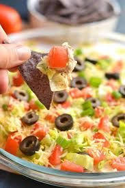 healthy taco dip with greek yogurt gf low calorie skinny