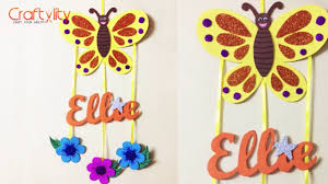 diy door name plate for kids room foam craft wall hanging