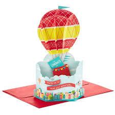 air balloon pop up congratulations card greeting cards
