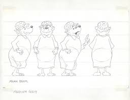 model sheets and production art for the berenstain bears