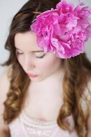 flower headbands diy how to make a peony headband a floral diy tutorial