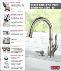 kitchen faucet parts diagram assembly delta list installation