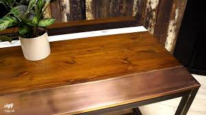 wood u0026 copper top dining table