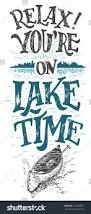 relax youre on lake time lake stock vector 414306007 shutterstock