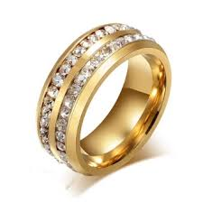 wedding rings malaysia okdeals men womens unisex stainless steel wedding ring gold