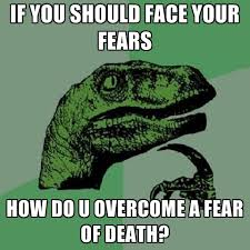 Fear Meme - if you should face your fears how do u overcome a fear of death
