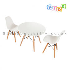 childrens white table and chairs childrens set charles ray eames dsw style table 2 chairs white