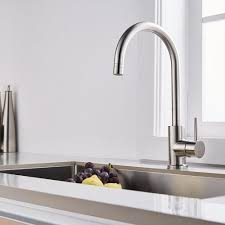 Premium Kitchen Faucets Trywell T304 Solid Stainless Steel Single Lever Kitchen Sink Bar