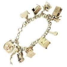 unique charm 1950s charm bracelets 14 for sale at 1stdibs