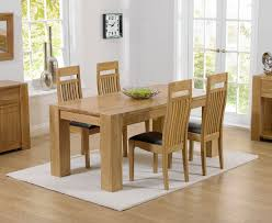 rutland solid chunky oak furniture large dining table and 6