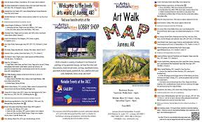 Map Of Juneau Alaska by Art Walk Map Juneau Arts Humanities Council
