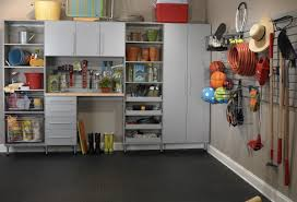 after remodel basement garage car design with black carpet tiles