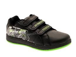 boys girls kids pumps boots plimsoles monster truck trainers shoes
