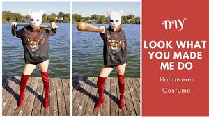 diy taylor swift look what you made me do cat mask halloween