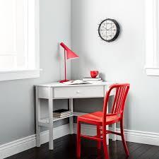 simple living antique white wood corner computer desk free
