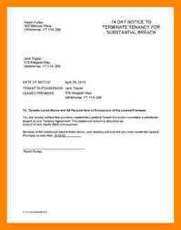sample lease termination letter from landlord to tenant rental