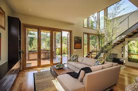 Home Interior Living Room Modern Prefabricated Modern Home With Stacked Stones Pillars And