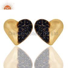 earrings brand azul zafiro y pendiente perno prisionero 18k plateó la plata