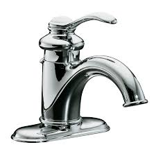 shop kohler fairfax polished chrome 1 handle 4 in centerset