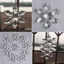 10pcs snowflakes ornaments tree hanging