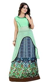 women u0027s readymade indo western gown type dress for girls and