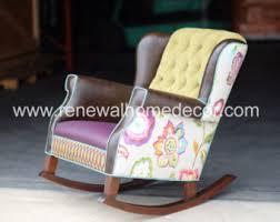 Upholstered Nursery Rocking Chair Upholstered Rocker Etsy