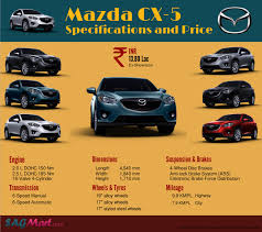 mazda automobiles mazda cx 5 specifications and price infographic sagmart