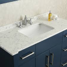 Ariel By Seacliff Radcliff  Midnight Blue SingleSink Bathroom - Bathroom vanities with quartz countertops
